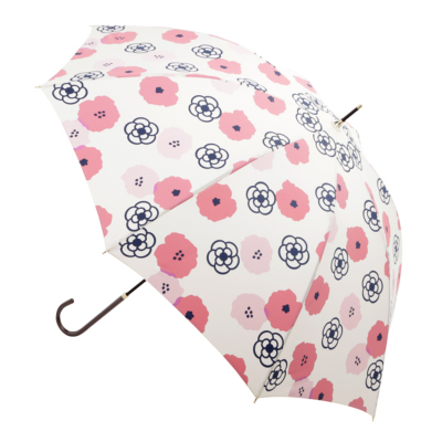フラワーカメリアプリント長傘